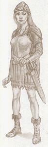 Рисунки на героите Angua