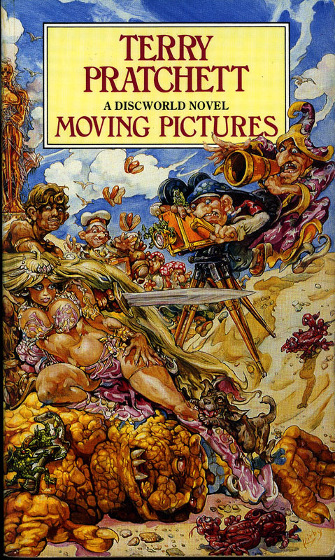 Pictures For Book Cover : The annotated pratchett file v moving pictures
