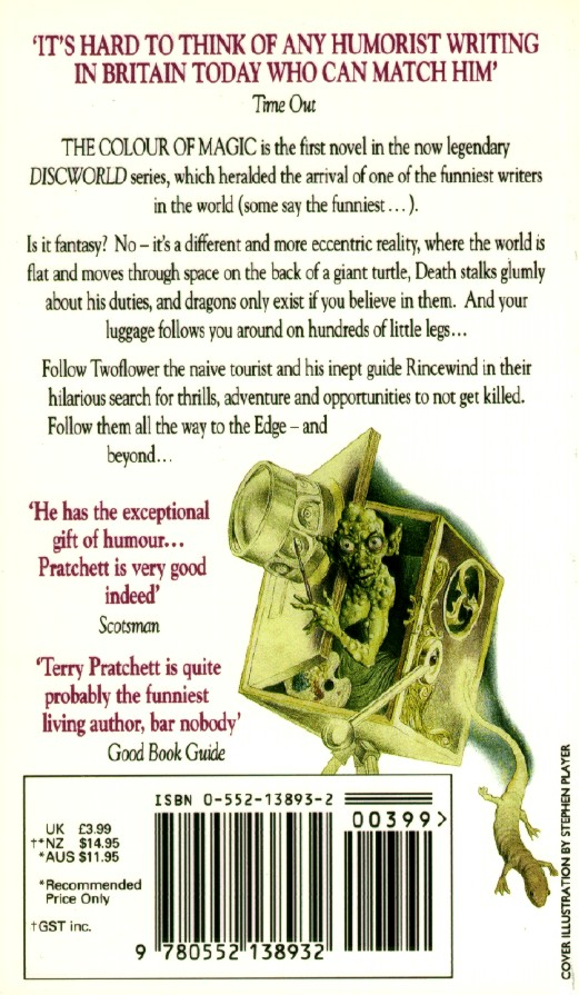 paperback back cover - The Color Of Magic Book