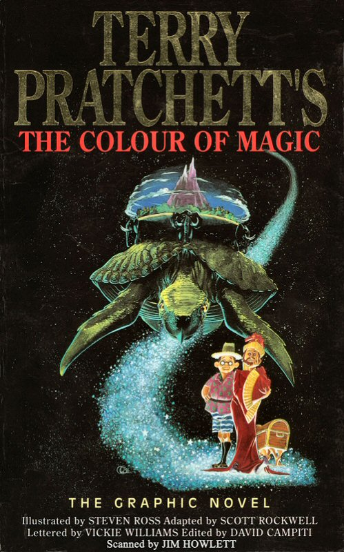 Graphic Novel Book Cover : The colour of magic book covers
